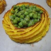 Cestini patate e piselli