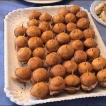 Mini-muffins arancia e spada affumicato