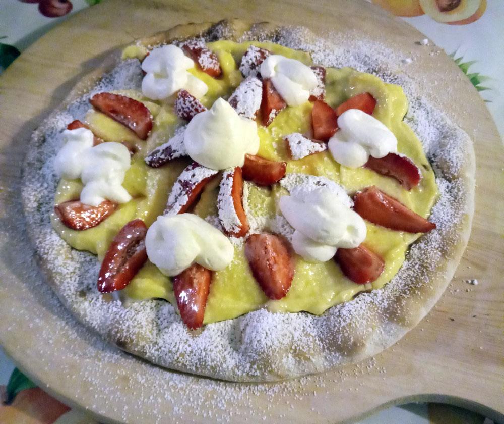 Pizza dolce al Vov