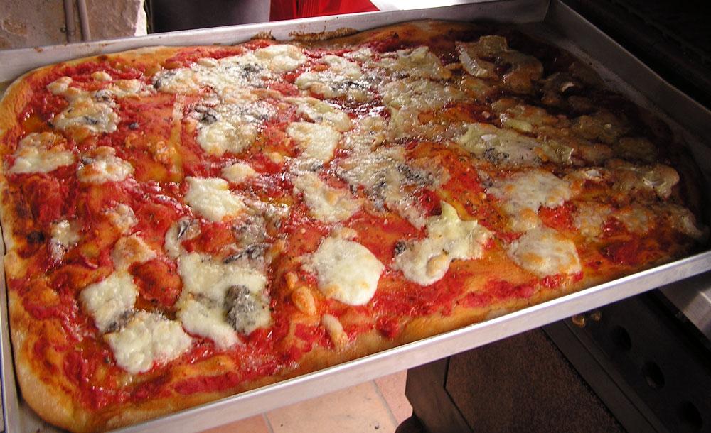 Pizza in teglia (seconda cottura)